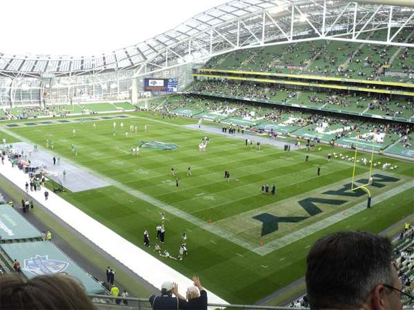 Aviva Stadium, section: 519, row: H, seat: 26