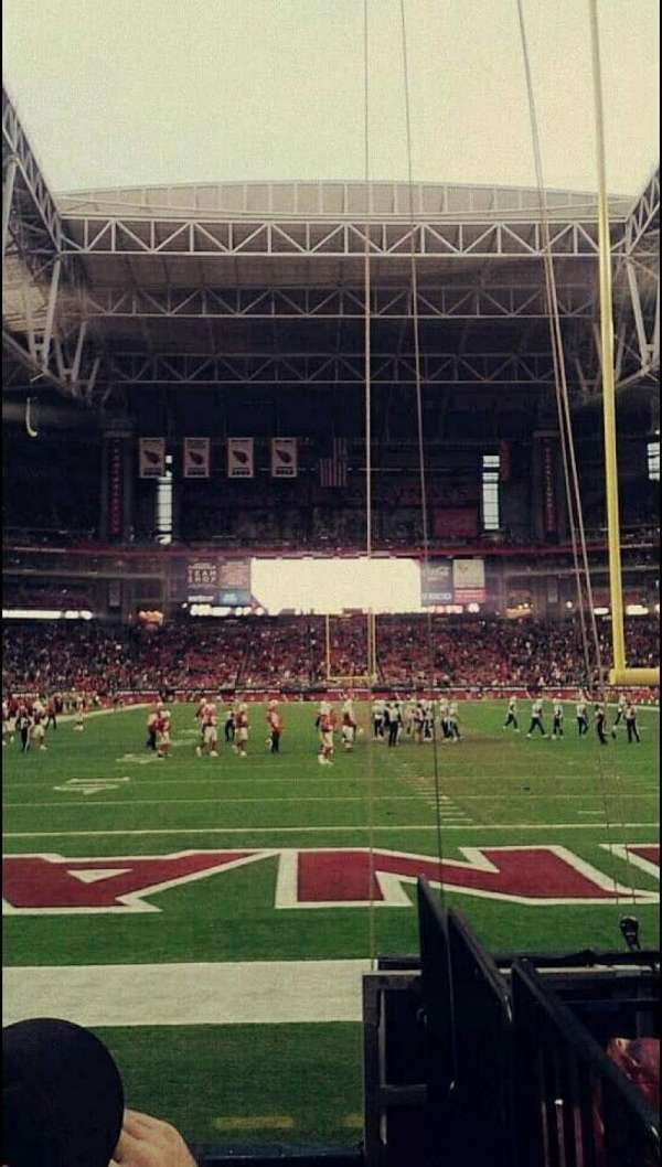 University of Phoenix Stadium, section: 142, row: 5, seat: 3-4