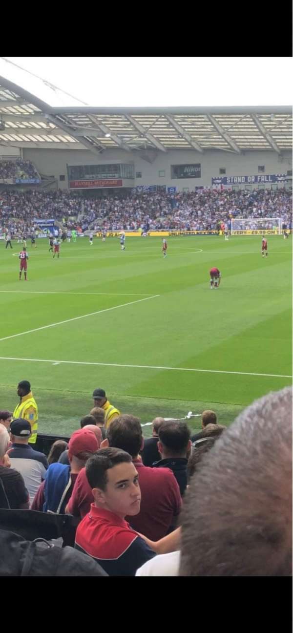 American Express Community Stadium, section: South Stand, row: M, seat: 782