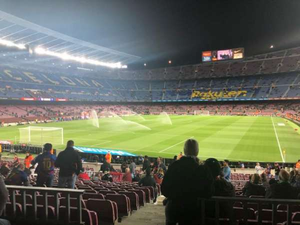 Camp Nou, section: 123, row: 17, seat: 2