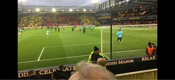 Vicarage Road, section: VR2, row: GG, seat: 67