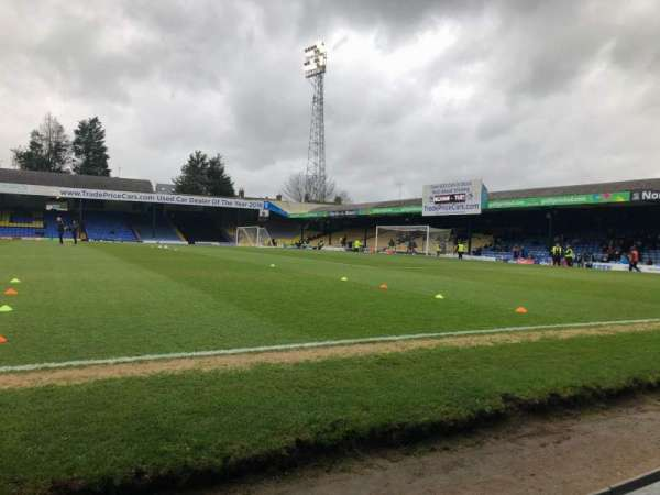 Roots Hall, section: B, row: A, seat: 48