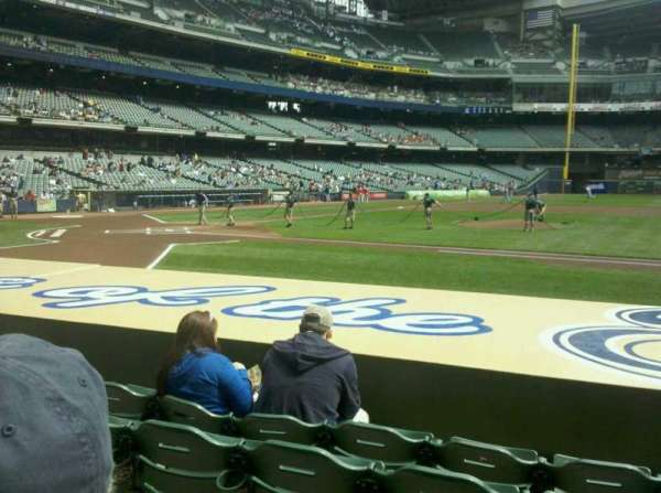 Miller Park, section: 113, row: 8, seat: 10
