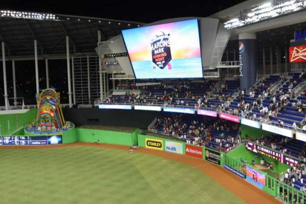 MARLINS PARK, section: 305, row: B, seat: 25