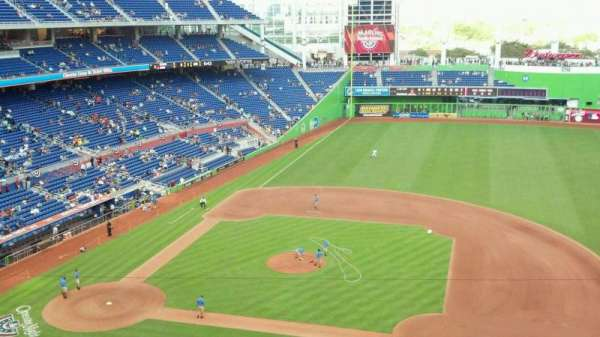 Marlins Park, section: 308, row: A, seat: 18