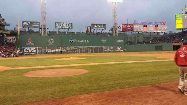 Fenway Park, section: Field Box 36, row: D, seat: 1