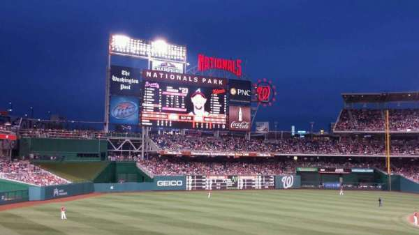 Nationals Park, section: 111, row: RR, seat: 8