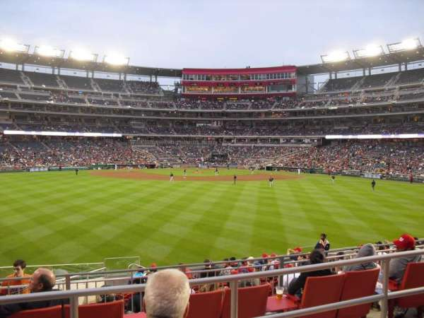 Nationals Park, section: 100, row: M, seat: 27