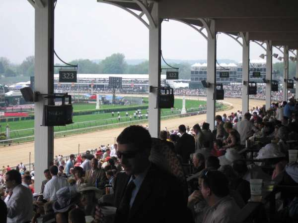 Churchill Downs, section: 323, row: H, seat: 4