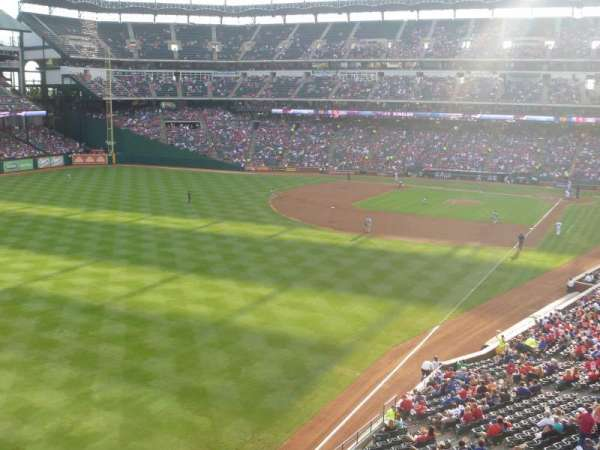 Globe Life Park in Arlington, section: 210, row: 1, seat: 2