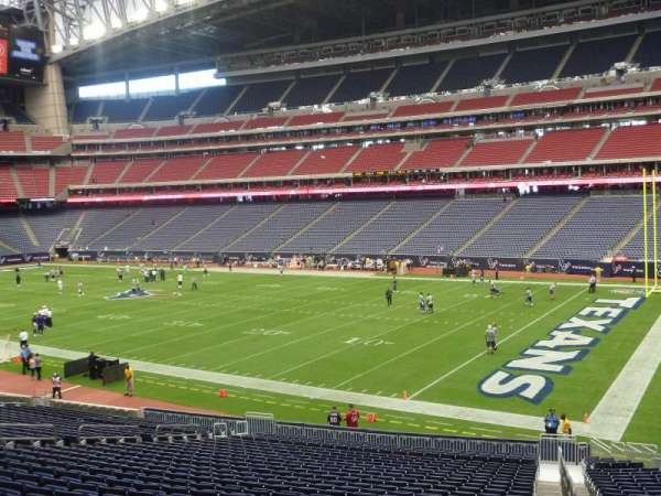 NRG Stadium, section: 102, row: EE, seat: 1