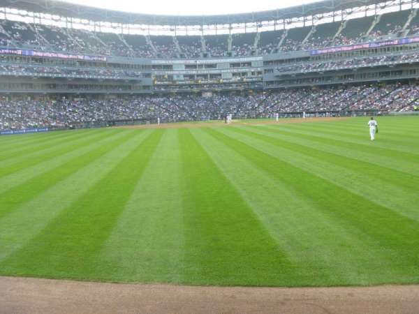 Guaranteed Rate Field, section: 100, row: 1, seat: 1