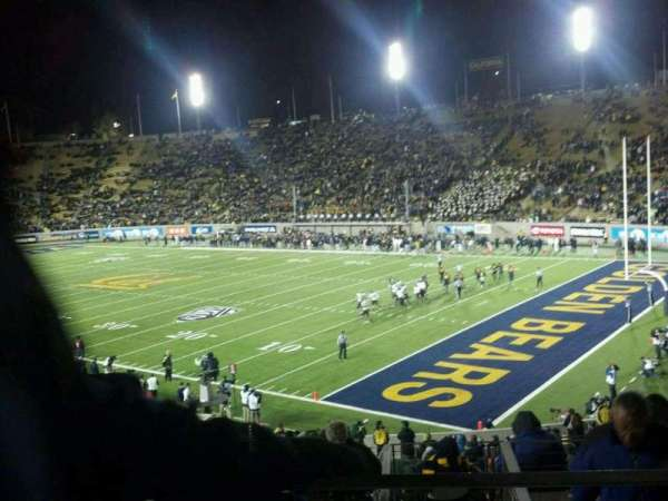 California Memorial Stadium, section: JJ, row: 41, seat: 19