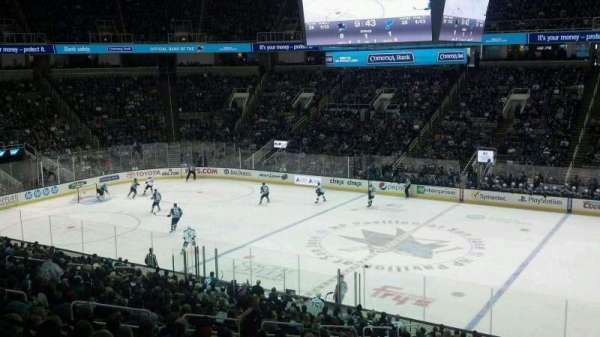 SAP Center, section: C10, seat: 4