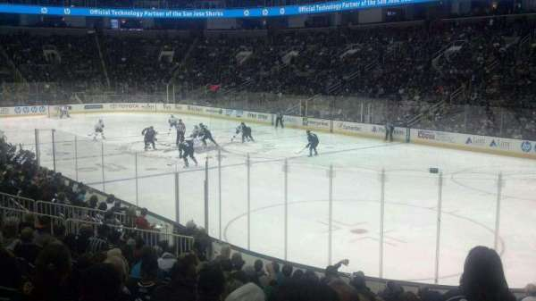 SAP Center, section: 126, row: 14, seat: 3