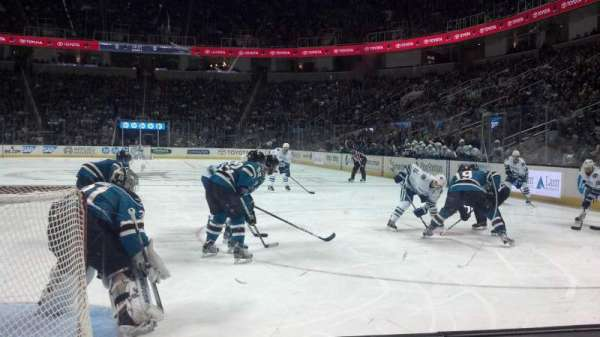 SAP Center, section: 107, row: 2, seat: 13