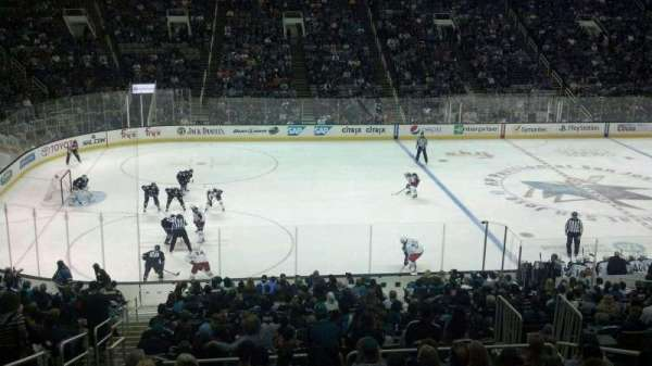 SAP Center, section: C2, row: 1, seat: 12