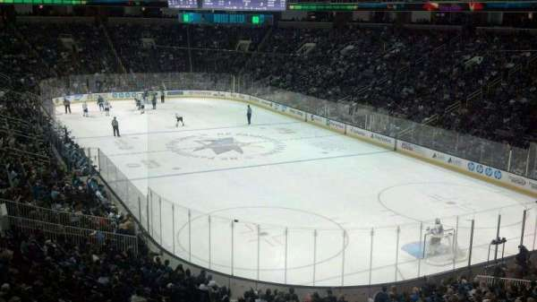 SAP Center, section: C18, row: 1, seat: 6