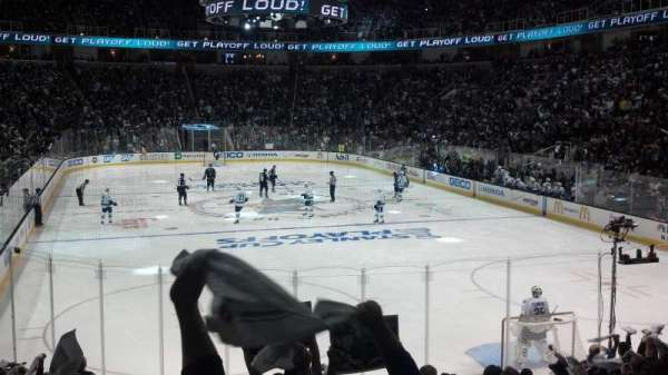 SAP Center, section: 109, row: 14, seat: 18
