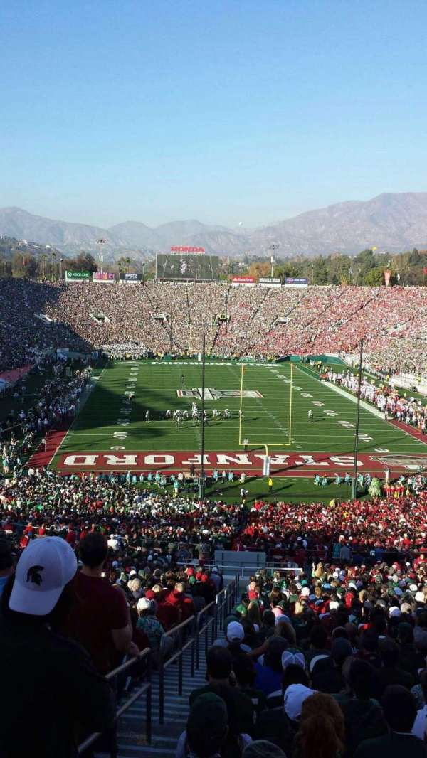Rose Bowl, section: 25-H, row: 76, seat: 126