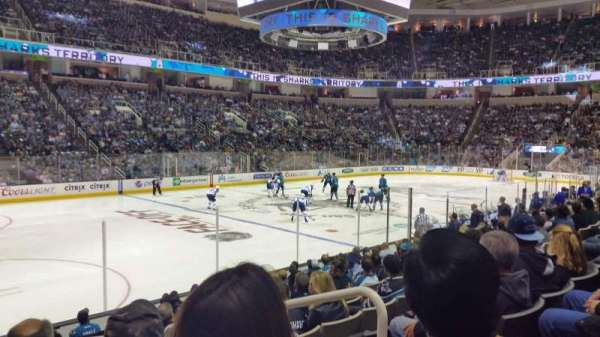 SAP Center, section: 103, row: 11, seat: 4