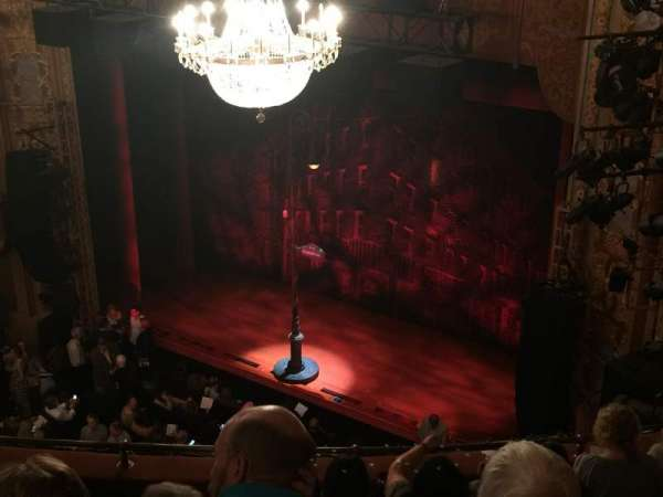 Longacre Theatre, section: Mezzanine R, row: F, seat: 13