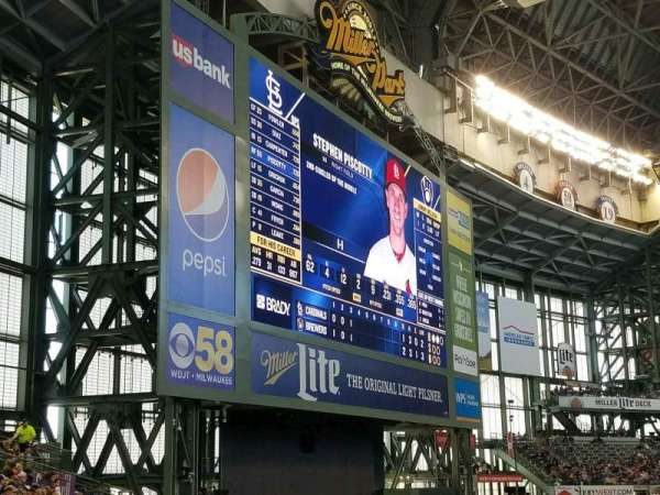 Miller Park, section: 234, row: 1, seat: 14