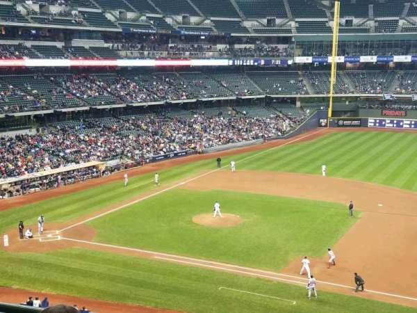 Miller Park, section: 318, row: 3, seat: 8