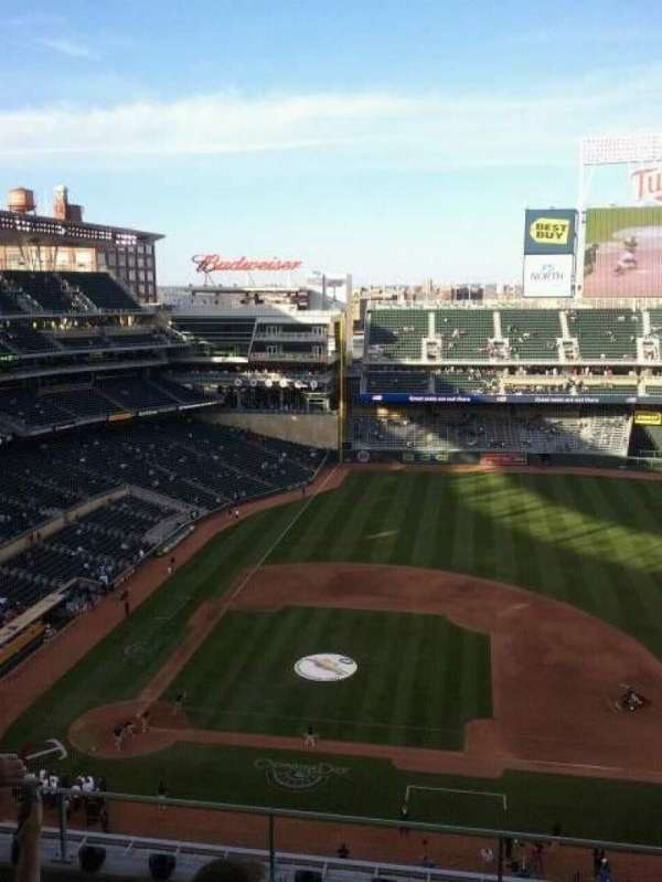 Target Field, section: 209, row: 3, seat: 12