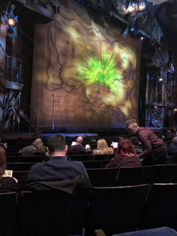 Gershwin Theatre, section: Orchestra L, row: F, seat: 17