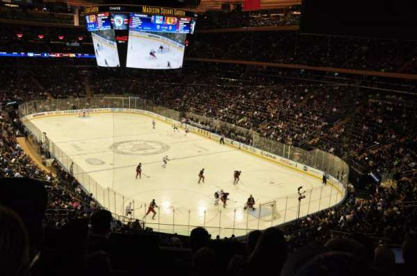 Madison Square Garden, section 202, home of New York ...