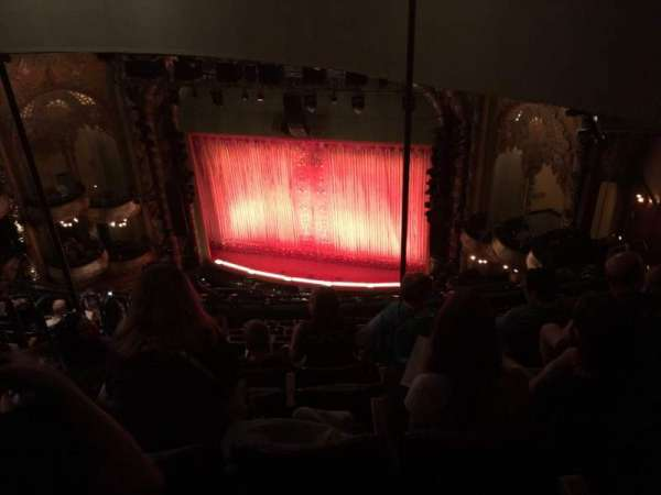 New Amsterdam Theatre, section: Balcony R, row: L, seat: 12/14