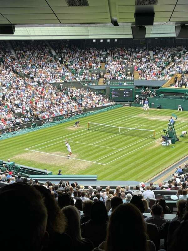 Wimbledon, Centre Court, section: 508, row: X, seat: 161