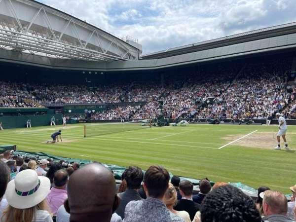 Wimbledon, Centre Court, section: 111, row: F, seat: 11