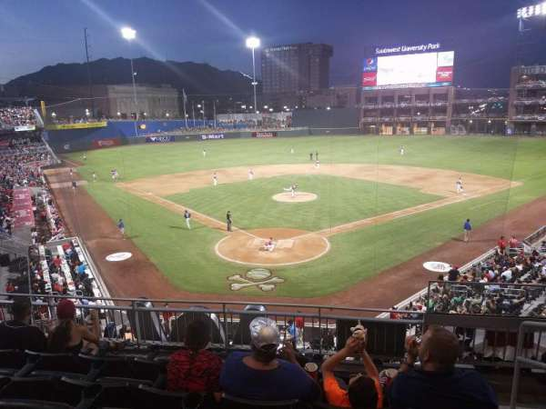 Southwest University Park, section: 208, row: E, seat: 1