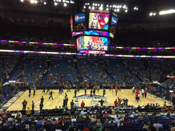 Smoothie King Center, section: 113, row: 18
