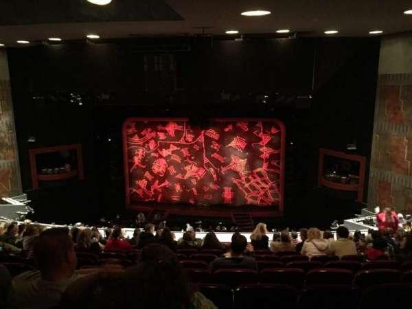 Minskoff Theatre, section: Mezzanine, row: L, seat: 139
