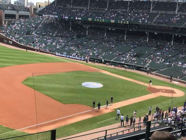 Wrigley Field, section: 307L, row: 4, seat: 25