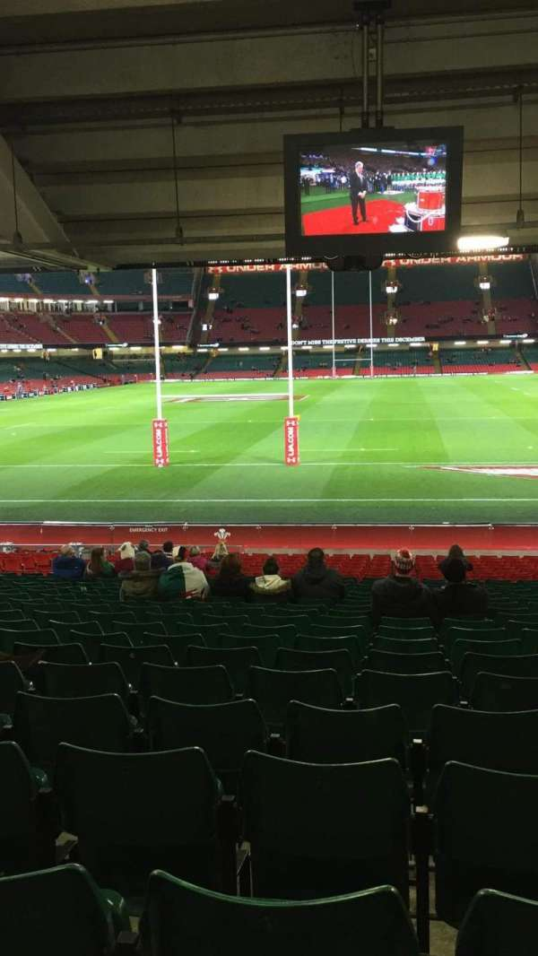 Principality Stadium, section: L19, row: 27, seat: 10