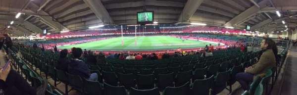 Principality Stadium, section: L19, row: 27, seat: 11
