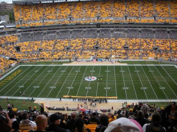 Heinz Field, section: 535, row: X, seat: 6