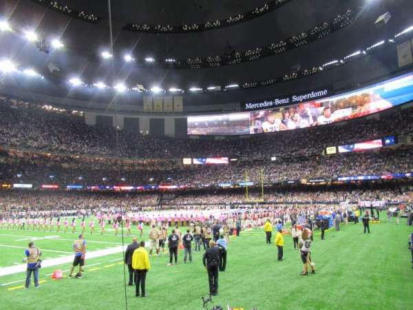 Caesars Superdome, section: 121, row: 2, seat: 7
