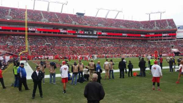 Raymond James Stadium, section: 128, row: A, seat: 1