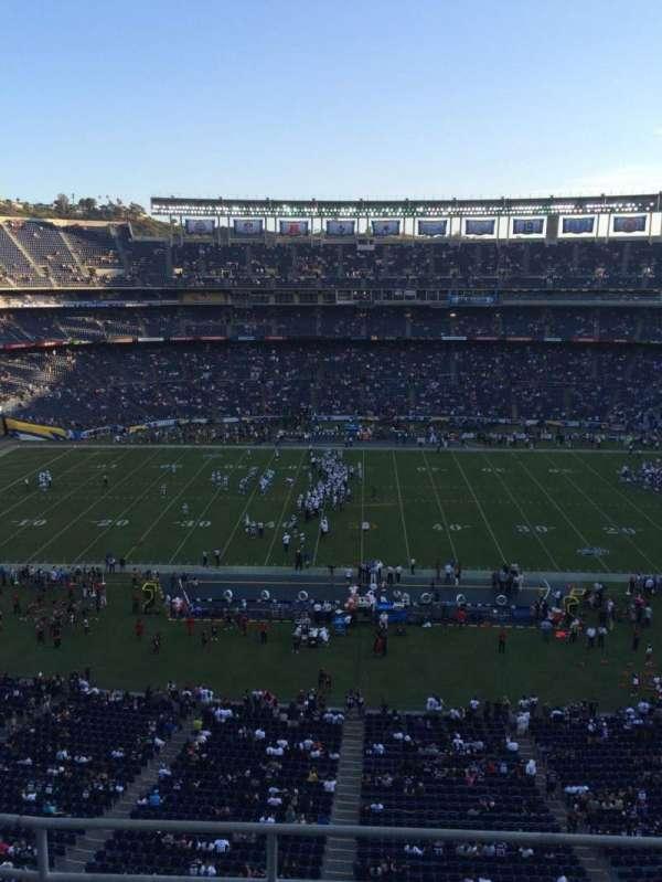 SDCCU Stadium, section: V6, row: 4, seat: 1
