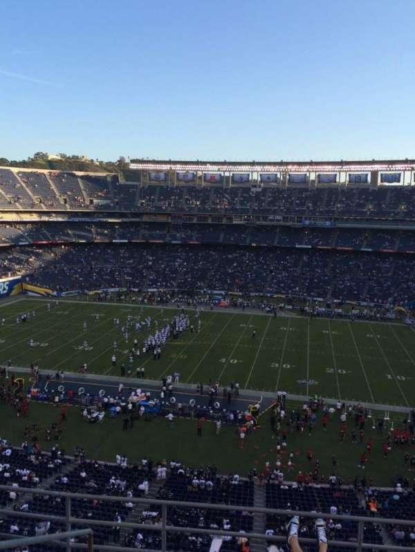 SDCCU Stadium, section: V8, row: 5, seat: 14