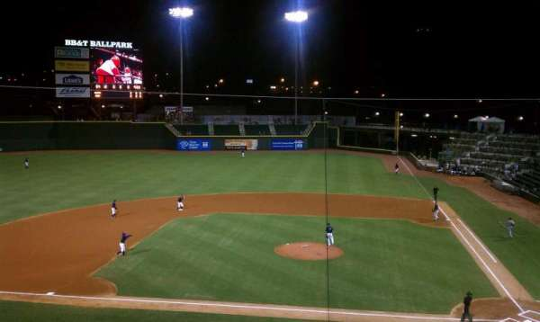BB&T Ballpark (Winston-Salem), section: 111
