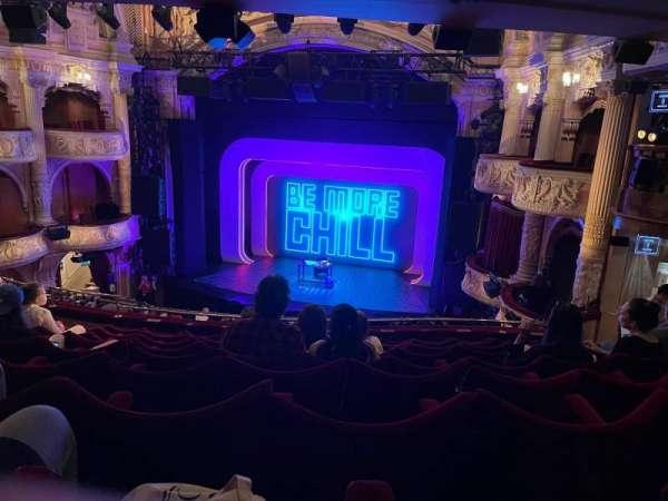 Shaftesbury Theatre, section: Royal Circle, row: J, seat: 8