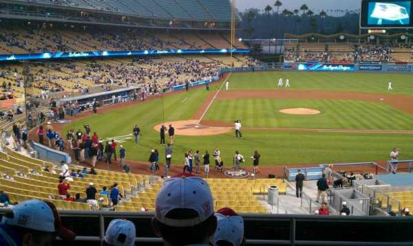 Dodger Stadium, section: 122LG, row: F, seat: 5