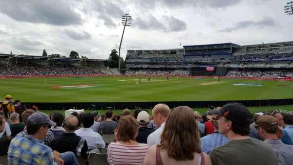 Edgbaston Cricket Ground, section: R E S Wyatt Stand, row: S, seat: 15