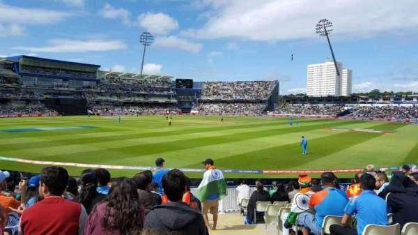 Edgbaston Cricket Ground, section: Stanley Barnes Stand Block 20, row: L, seat: 1